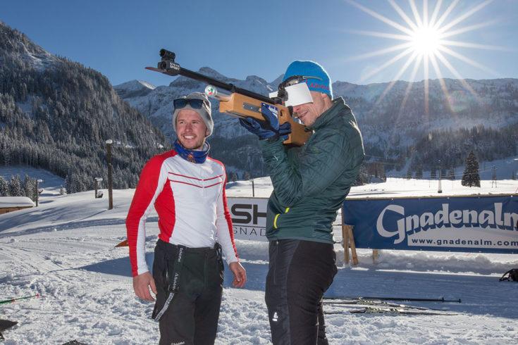 Biathlon für jeden in Obertauern, Gnadenalm