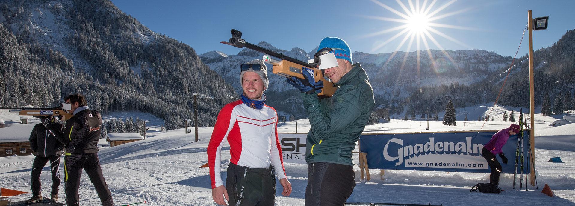 Biathlon auf der Gnadenalm