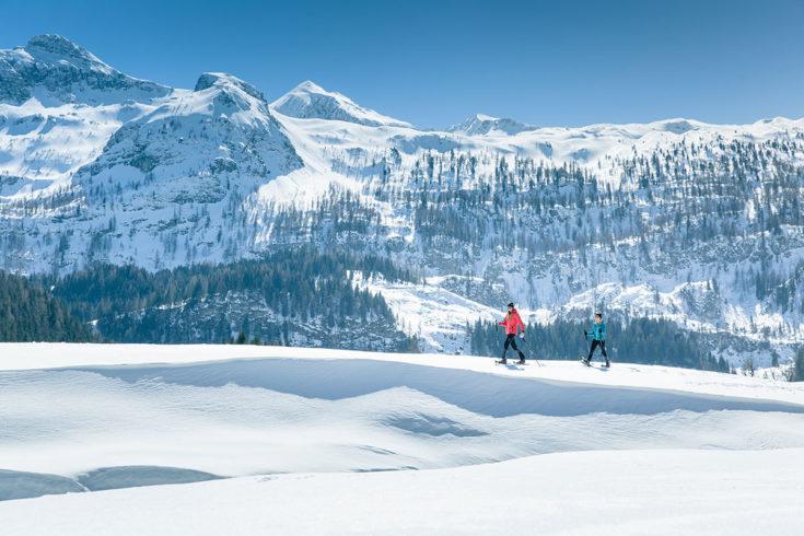 Schneeschuhwandern auf der Gnadenalm